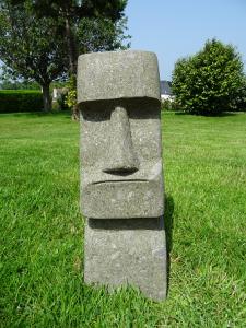 Moai en pierre sculpté H60 cm