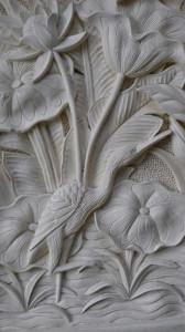 Lotus gravure pierre