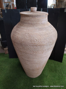 Grande amphore fibres végétales 100cm