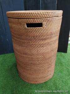 Panier fibres végétales orangé 55cm