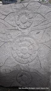 Pas japonais pierre lave sculpté