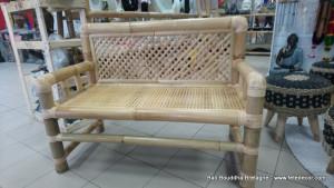 Petit banc bambou dossier tréssé