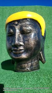 Petit cache-pot jaune visage bouddha