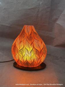 Luminaire feuillage orange
