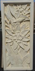 sculpture relief paysage cadre pierre
