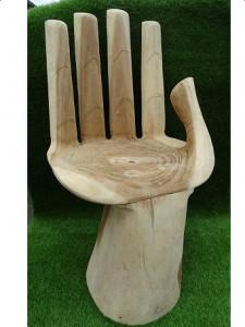 Siège main en bois naturel