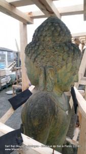 statue Bouddha debout double visage