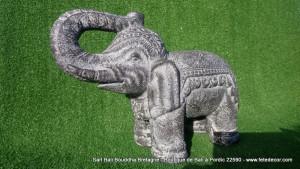Petit éléphant gris ciment H26cm