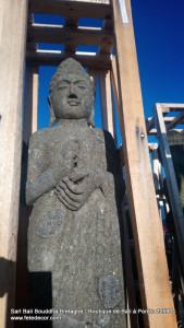 Grande statue pierre Bouddha debout H145cm