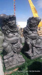 Statues Gardiens de temple Raksasa