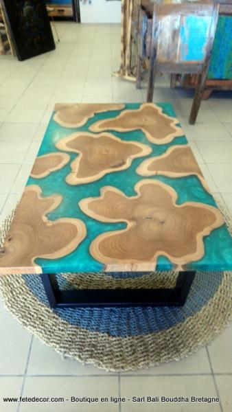 Table basse 'Mer de Java'