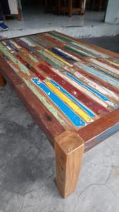 Table basse bois bateau
