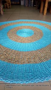 Tapis rond rotin 150 cm