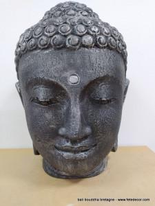 Tête bouddha harmonie argenté 50cm