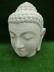 Tête bouddha beige 50 cm