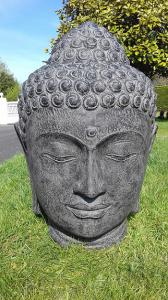Tête Bouddha noir H100 cm (Janvier 2022)
