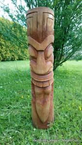 Tiki Maori bois cocotier H100cm