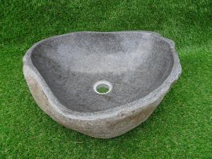 Vasque salle de bain en pierre poli
