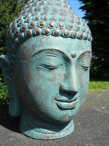 Grande t te de bouddha pour jardin vente de d corations - Statue bouddha exterieur pour jardin ...