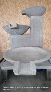 Grande fontaine extérieur cascade trois larges coupes