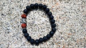 Bracelet pierre de lave avec motif bouddha
