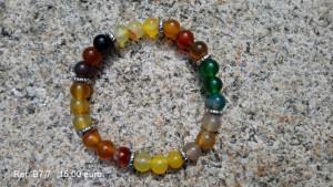 Bracelet pierres arc-en-ciel